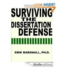 Dissertation defense advice questions and answers