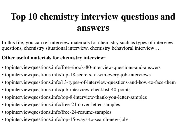 High school chemistry multiple choice questions