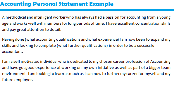Personal statement help