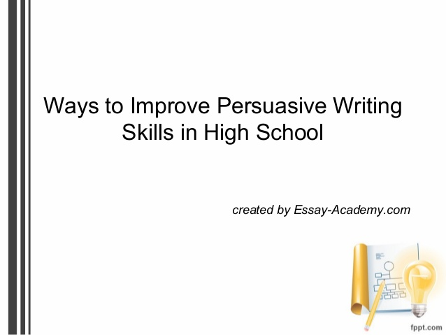 Persuasive Essays For High School  Logan Square Auditorium Persuasive Essays For High School
